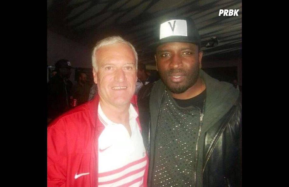 Dawala alias  Badiri Diakité  : le patron du WATI B (Sexion d'Assaut, Black M...) est aussi président du club de football de Bobigny (ici avec Didier Deschamps)