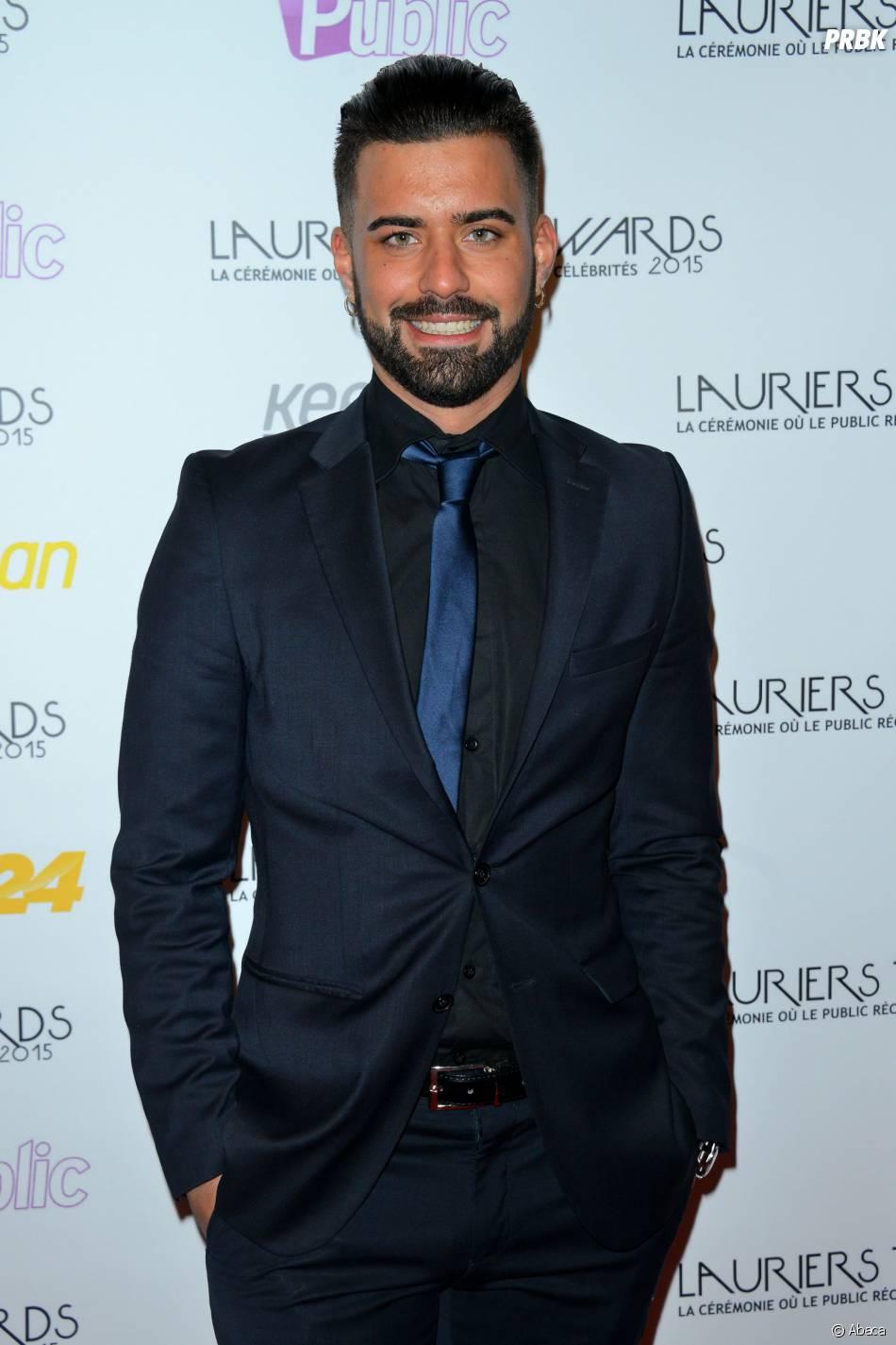 Vincent Queijo (Secret Story 7) sur le tapis-rouge de la cérémonie des Lauriers TV Awards le 6 janvier 2015 à Paris