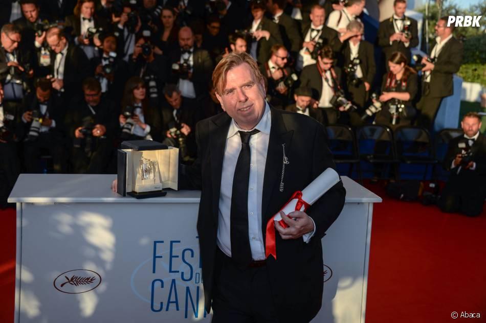 Timothy Spall prend la pose au festival de Cannes, le 24 mai 2014