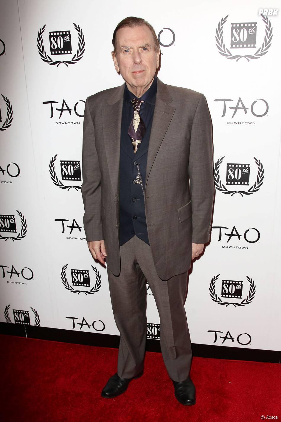 Timothy Spall mince sur le tapis rouge des Film Critics Circle Awards, le 5 janvier 2015
