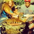 Beyoncé, Jay Z et Blue Ivy : la photo avec un tigre en Thaïlande, en janvier 2015