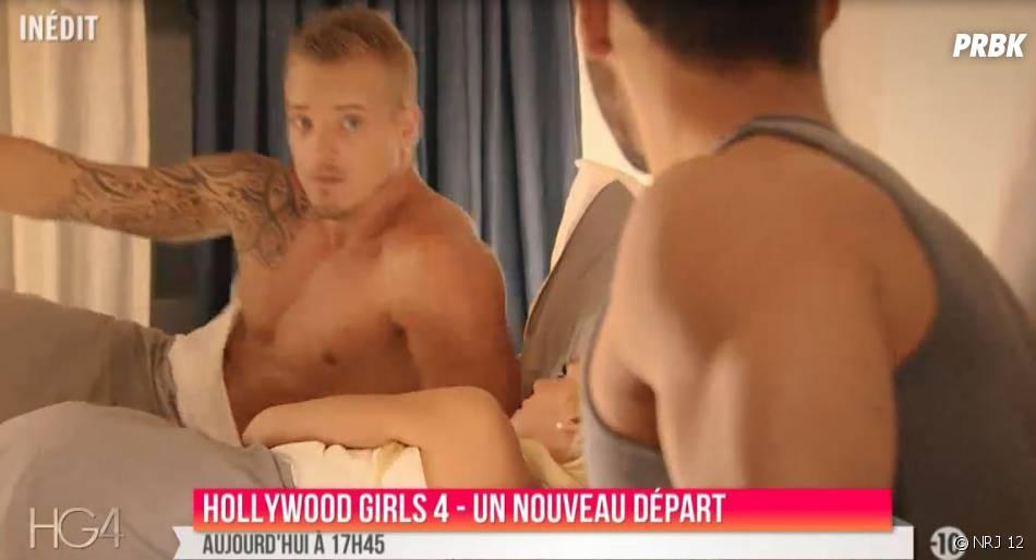 Kevin (Hollywood Girls 4) surprend Nicolas avec une autre femme que Nadège dans l'épisode 16 du 19 janvier 2015, sur NRJ 12