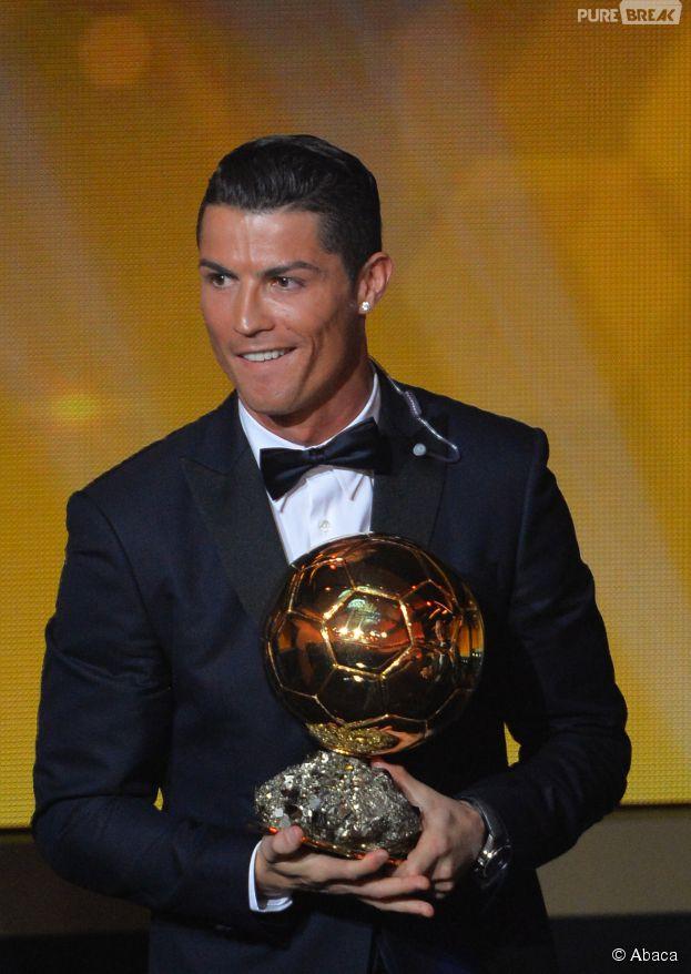 Cristiano Ronaldo pendant la cérémonie du Ballon d'or 2014, le 12 janvier 2015 à Zurich