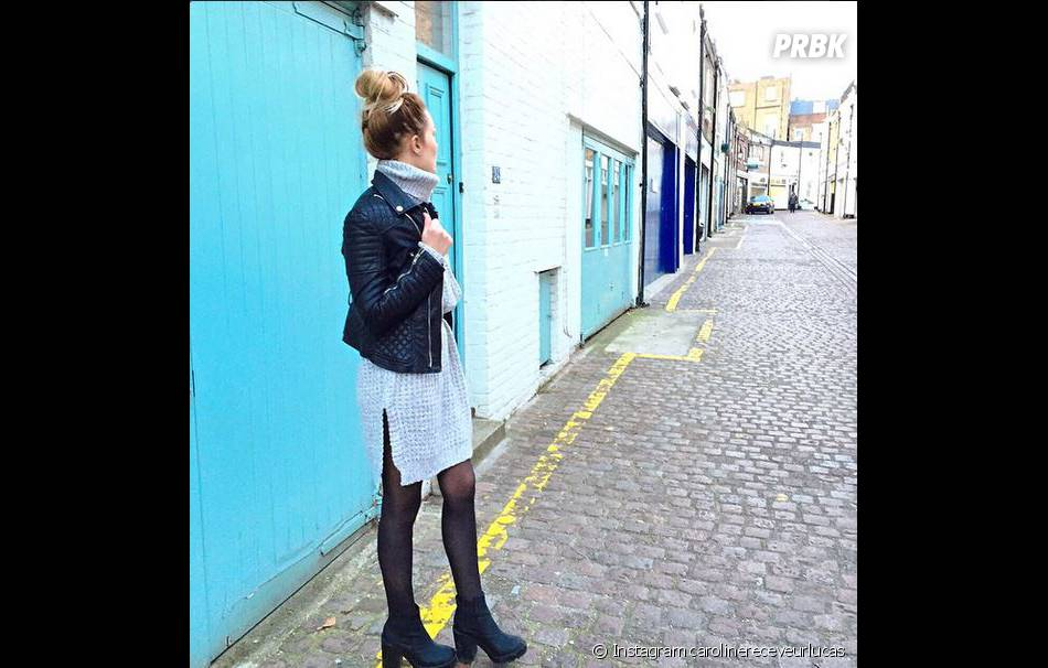 Caroline Receveur en balade à Londres