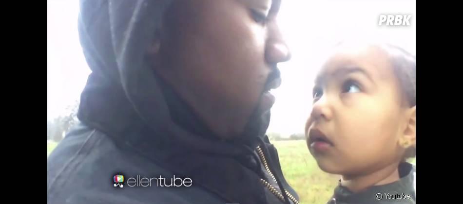 Kanye West joue au papa poule avec North West pour Only One