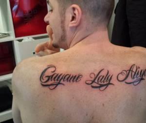 Norbert Tarayre : les prénoms de ses filles tatoués sur le dos
