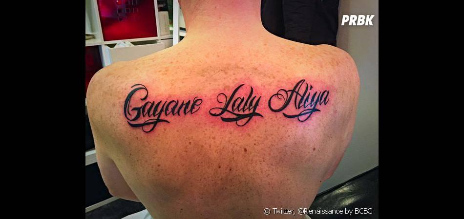 norbert tarayre : les prénoms de ses filles en tatouages dans le dos