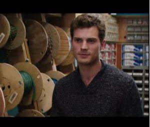 Fifty Shades of Grey : Jamie Dornan et Dakota Johnson dans une scène du film