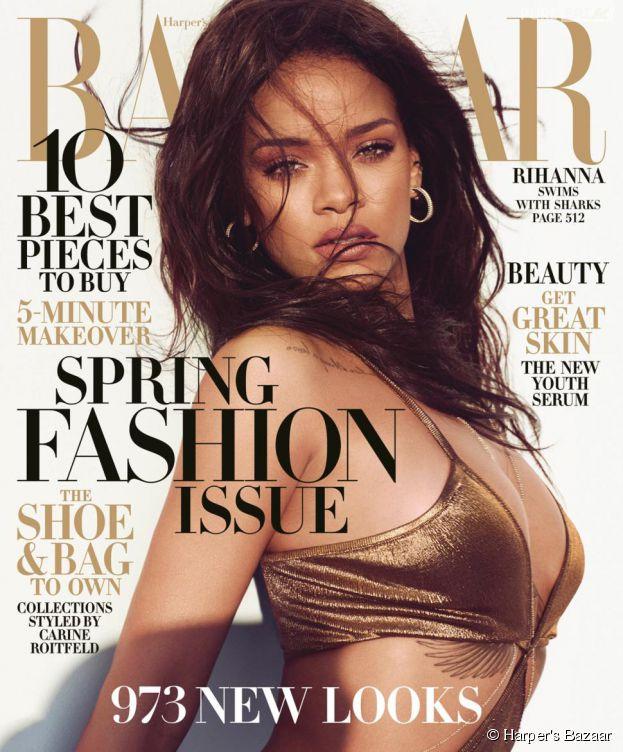 Rihanna en Une du magazine Harper's Bazaar, numéro de mars 2015