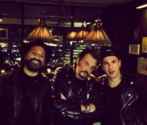 Michaël Youn et Johnny Hallyday : retrouvailles à Los Angeles en février 2015