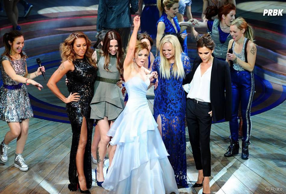 Spice Girls ensemble lors de la première de la comédie musicale Viva Forever en décembre 2012 à Londres