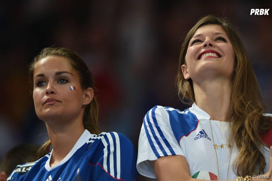 Jeny Priez et Géraldine Pillet, supportice de charme des handballeurs français