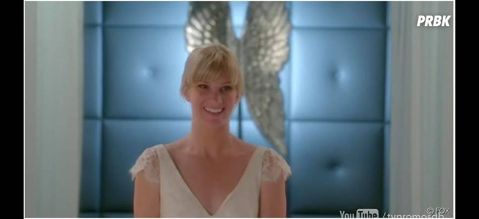 Glee saison 6, épisode 8 : Brittany (Heather Morris) en robe de mariée