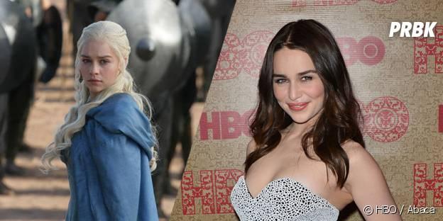Emilia Clarke dans Game of Thrones et dans la vie