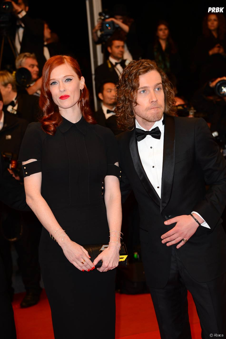 Julien Doré et l'actrice Audrey Fleurot sur le tapis rouge de Cannes en 2013