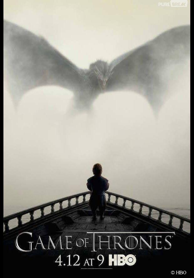 Game of Thrones saison 5 : Tyrion face aux dragons de Daenerys sur une affiche