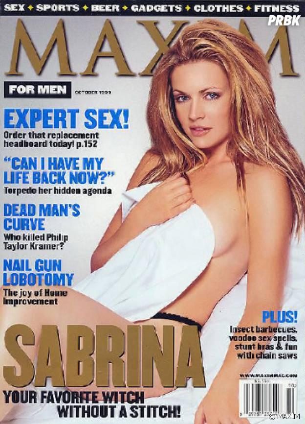 Sabrina, l'apprentie sorcière : la métamorphose de l'actrice Melissa Joan Hart, en Une de Maxim en 1999