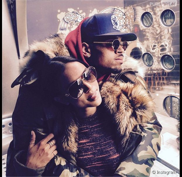 Chris Brown et Karrueche Tran en couple à la Fashion Week de New-York, le 17 février 2015