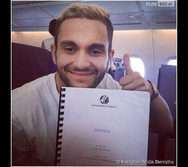 Malik Bentalha blond sur Instagram avant son départ pour la Thaïlande, le 12 mars 2014