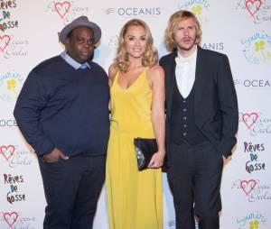 Jean-Baptiste Shelmerdine, Issa Doumbia et Joy Esther lors d'une soirée
