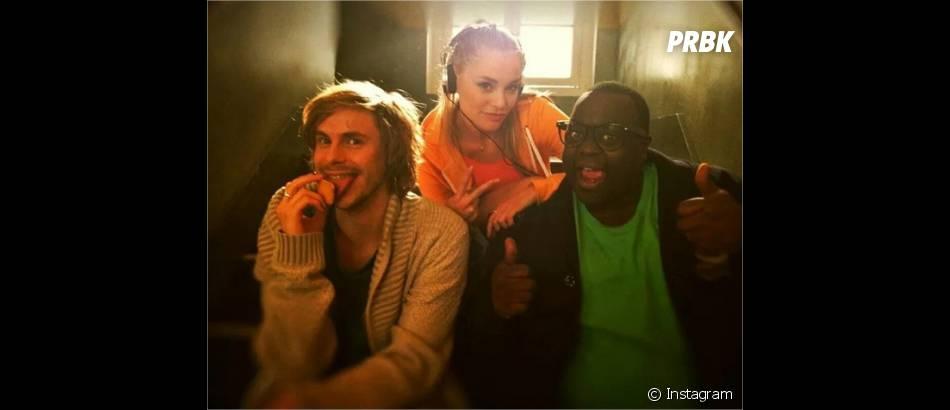 Jean-Baptiste Shelmerdine, Joy Esther et Issa Doumbia sur une photo Instagram
