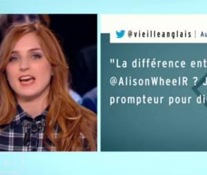 Alison Wheeler critiquée sur Twitter