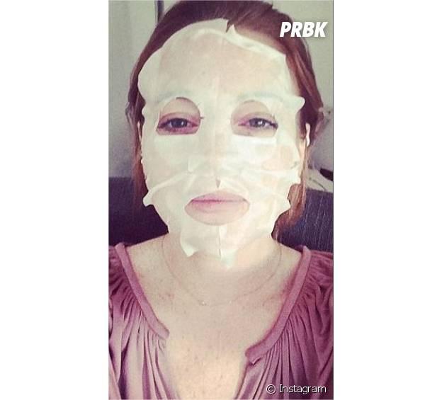Lindsay Lohan : son selfie masque de beauté sur Instagram