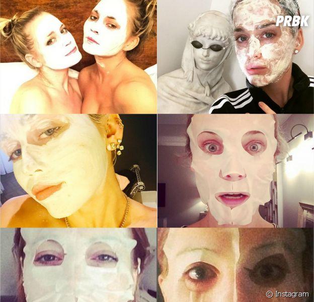 Miley Cyrus, Katy Perry, Diane Kruger... toutes accros au selfie avec leur masque de beauté !
