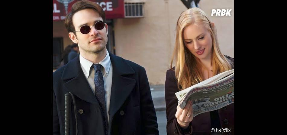 Daredevil : Charlie Cox et Deborah Ann Woll sur une photo
