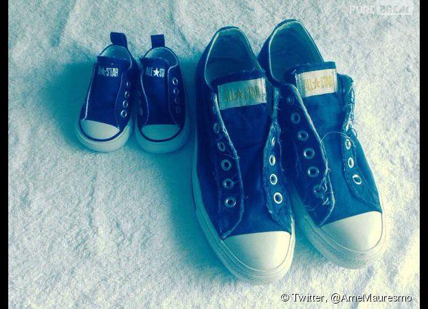 Amélie Mauresmo annonce sa grossesse sur Twitter, le 9 avril 2015