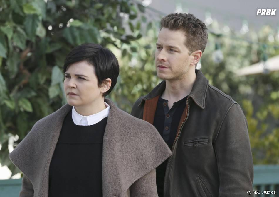 Once Upon a Time saison 4, épisode 20 : Snow (Ginnifer Goodwin) et Charming (Josh Dallas) sur une photo