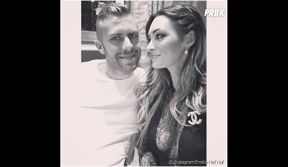 Emilie Nef Naf et Jérémy Ménez : photo de couple postée sur Instagram le 21 avril 2015