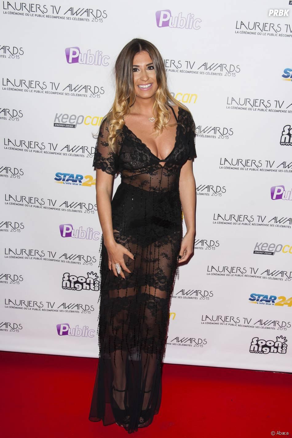 Martika (La Villa des Coeurs Brisés) sexy pour les Lauriers TV Awards 2015, à la Cigale, le 6 janvier 2015