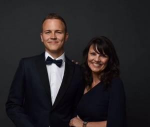 Jérôme Jarre et sa maman Agnès avant la montée des marches du festival de Cannes 2015