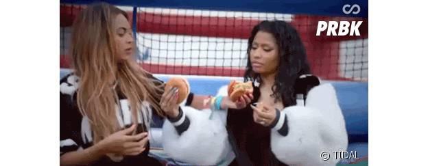 Beyoncé et Nicki Minaj dans le clip de 'Feeling Myself'