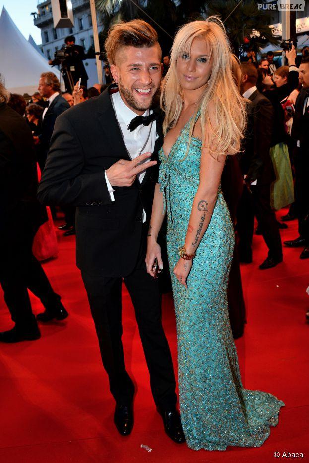 Adixia et Paga (Les Marseillais) couple glamour et sexy au Festival de Cannes 2015, le 20 mai