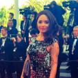 Aurélie (Les Marseillais en Thaïlande) sur le tapis rouge de Cannes 2015, le 16 mai 2016