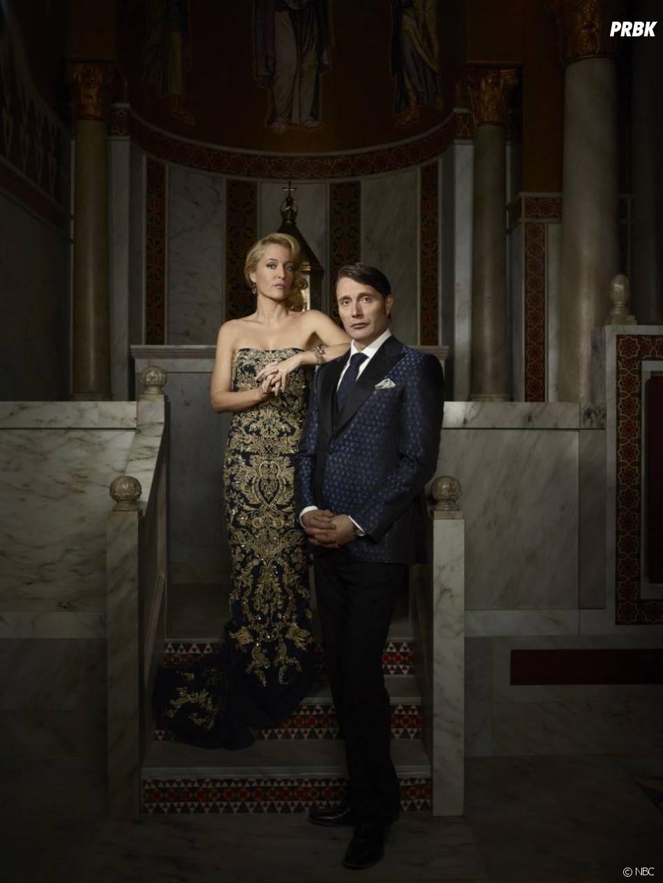 Hannibal saison 3 : Hannibal Lecter (Mads Mikkelseon) et Bedelia du Maurier (Gillian Anderson)