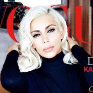Kim Kardashian en Marilyn Monroe : blonde platine et topless en couverture de Vogue Brasil