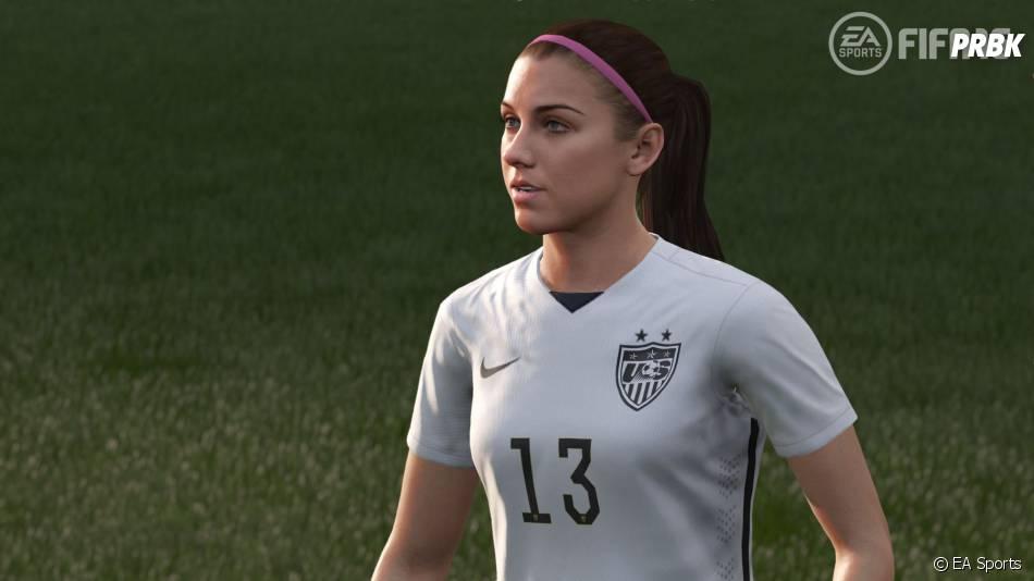 FIFA 16 : Alex Morgan modélisée dans le jeu