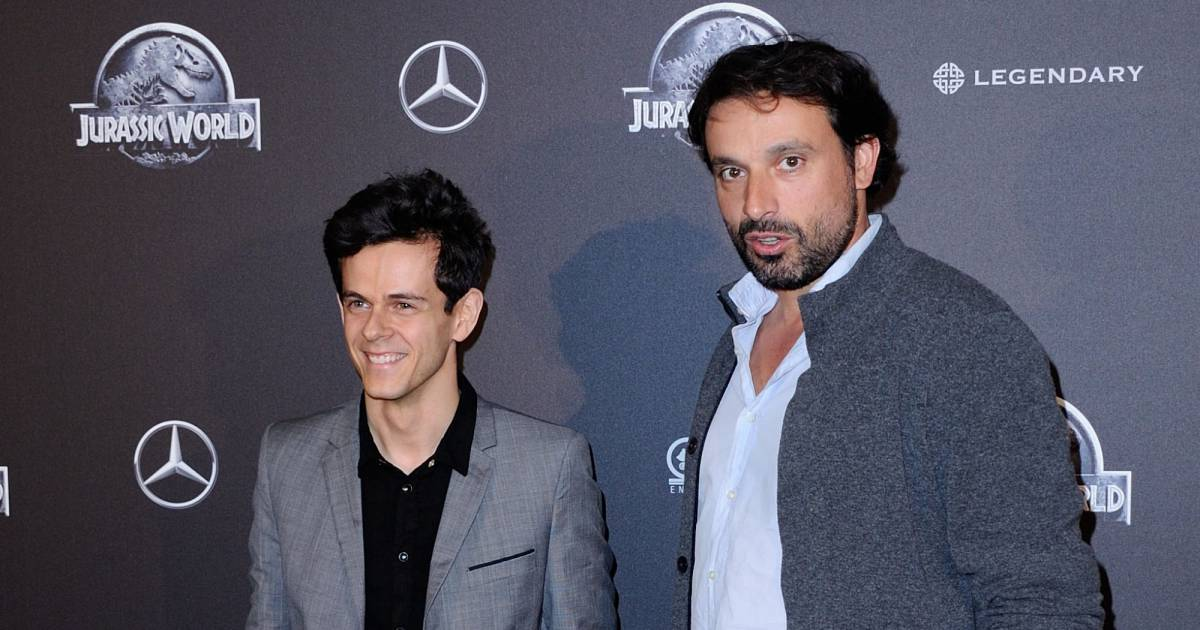 michael gregorio et bruno salomone l 39 avant premi re parisienne du film jurassic world le 29. Black Bedroom Furniture Sets. Home Design Ideas