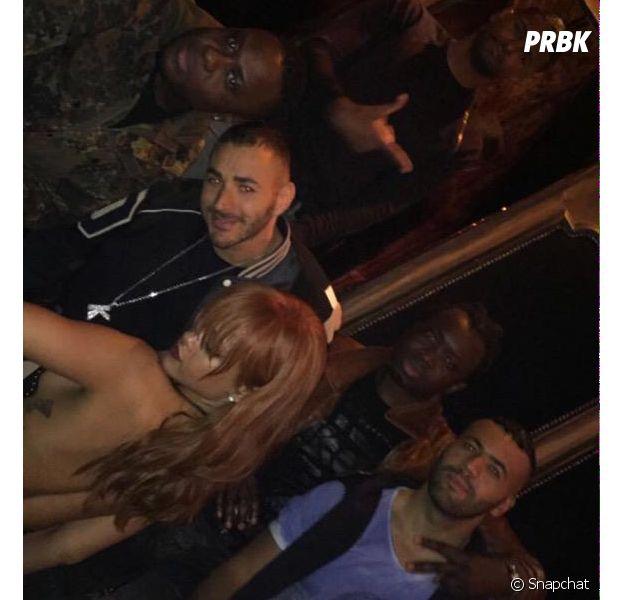 Rihanna et Karim Benzema ensemble sur un Snapchat