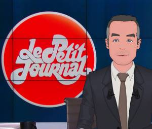 Le Petit Journal : Yann Barthès en personnage de cartoon