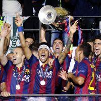 Neymar, Messi, Piqué... les papas stars du Barça fêtent la victoire avec leurs fils