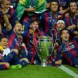 Neymar, Messi, Suarez et toutes les stars du Barça célèbrent leur victoire 3-1 face à la Juventus le 6 juin 2015