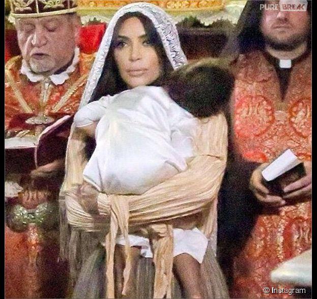 Kim Kardashian : des photos inédites du baptême de North West à Jérusalem