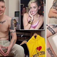 """Miley Cyrus juge les tatouages d'un fan """"moches"""", il les efface"""