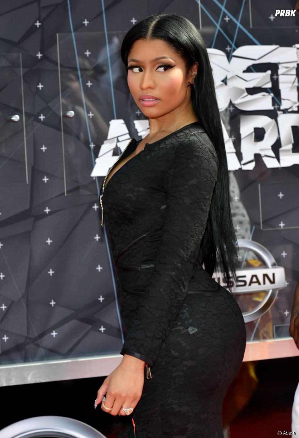 Nicki Minaj sur le tapis rouge des BET Awards, le 28 juin 2015