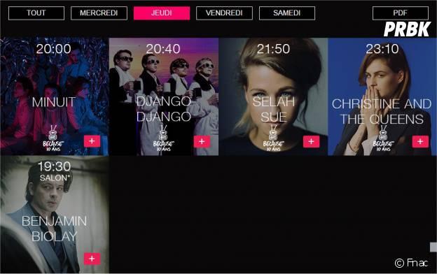 Festival Fnac Live 2015 : la programmation avec Nekfeu, Mika, Christine and The Queens... du 15 au 18 juillet 2015 sur le parvis de l'Hôtel de Ville de Paris