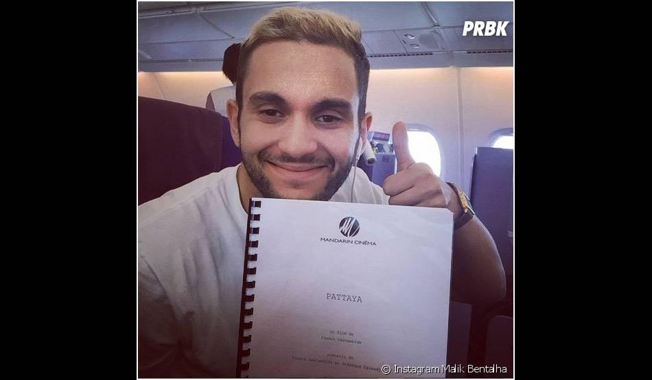 Malik Bentalha blond sur Instagram avant son départ pour la Thaïlande et le tournage de Pattaya, le 12 mars 2014